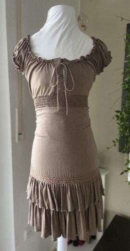 Orsay Vestido estilo flounce marrón grisáceo