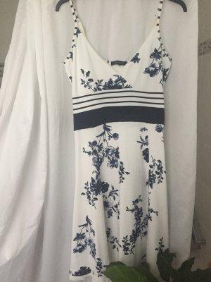 Passport Robe longue blanc-bleu foncé
