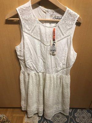 Sommerkleid in G.40/L von Superdry in weiß / spitze , neu!
