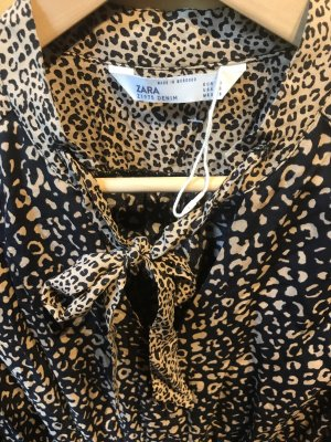 Sommerkleid in Gr.36/S von Zara in braun / schwarz , neu!