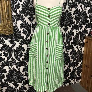 Sommerkleid in Gr.36/S von Zara in grün / weiß / streifen .