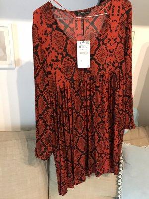 Sommerkleid in Gr.36/S von Zara in rot, neu!