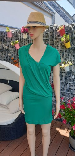 Mango Vestido de manga corta verde