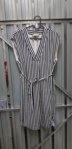 H&M Off-The-Shoulder Dress cream-blue