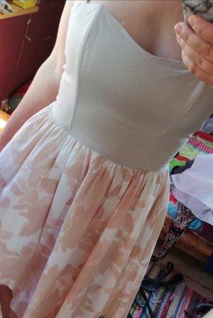 Sommerkleid in rosa/beige mit Blumen