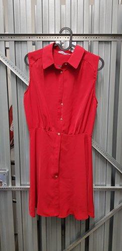 Mango Off-The-Shoulder Dress red
