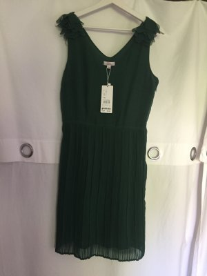 S.Oliver Premium Chiffon Dress forest green polyester