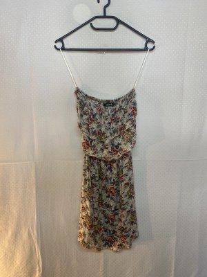 Sukienka z dekoltem typu bandeau malina Bawełna