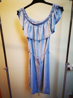 H&M L.O.G.G. Denim Dress azure lyocell