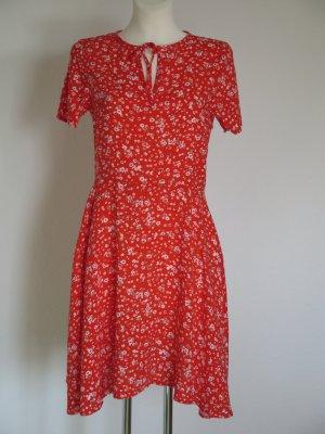 Sommerkleid Kleid Blumenprint rot von Promod Gr. 36 NEU