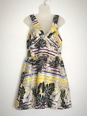 Sommerkleid Kleid Boho Metallic Cut-Out Gr. 44 H&M