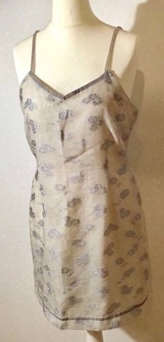 Sommerkleid Kleid grau silber Größe 40