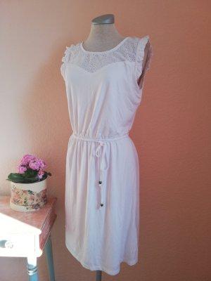 Sommerkleid Kleid kurz weiß Häkelspitze Lochspitze Spitze Kleid kurz Gr. 36 S neu Hippiekleid