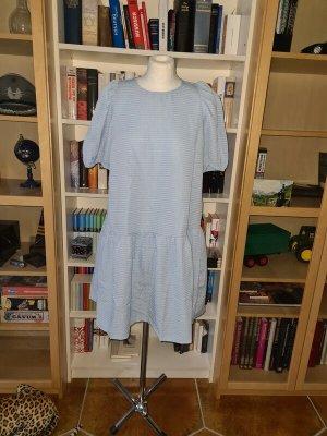 Sommerkleid Kleid Pieces Gr. M Babyblau leicht NEU €40 Puffärmel
