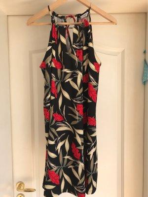Sommerkleid Kleid schwarz Blumenmuster