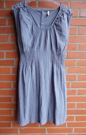 Sommerkleid, Kleid Trägerkleid Gr. 38 S/M blau mit Spitze neuwertig