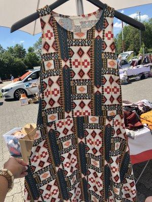 H&M Vestido Hippie multicolor