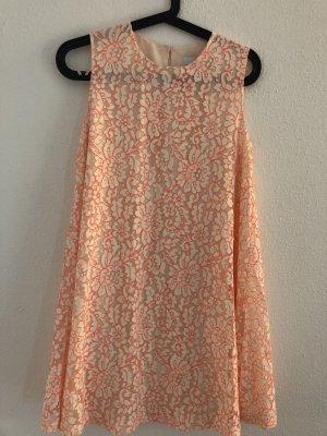 Asos Petite Lace Dress cream-magenta