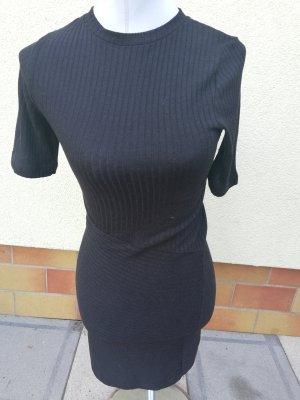 Sommerkleid kurzes schwarzes Strick Gr. 34