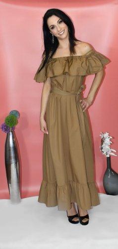 Sommerkleid lang, beige, 100% Baumwolle, Stillkleid