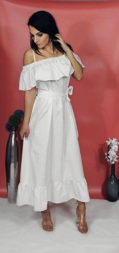 Sommerkleid lang weiß 100% Baumwolle, Stillkleid