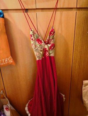Sommerkleid langes Kleid rot