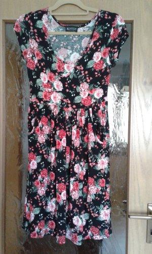 Sommerkleid Laura Scott Gr. 36 Rosen rot/schwarz