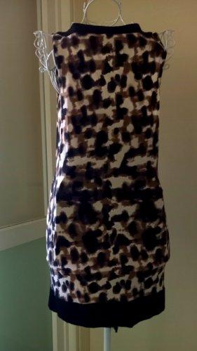 Comma Off-The-Shoulder Dress black-brown