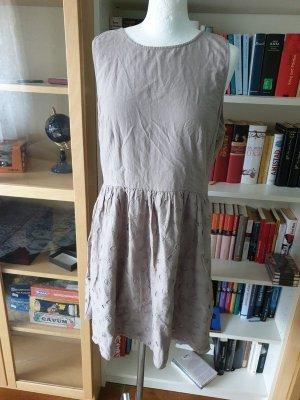 Sommerkleid Lochmuster Baumwolle Gr. 38- 40 Kleid beige