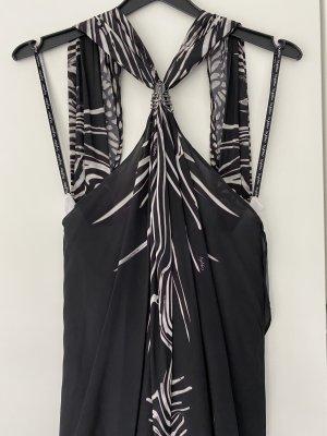 Byblos One Shoulder Dress white-black
