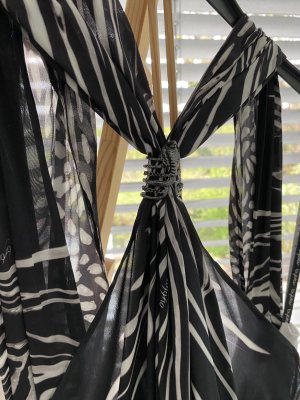 Byblos Robe ballon blanc-noir