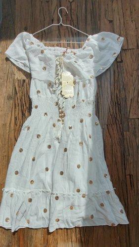 AZAKA Paris Mini-jurk wit Viscose