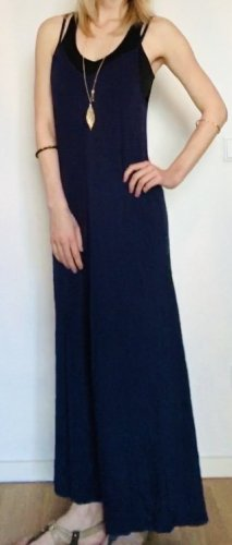 Sommerkleid maxi, blau, Gr. S