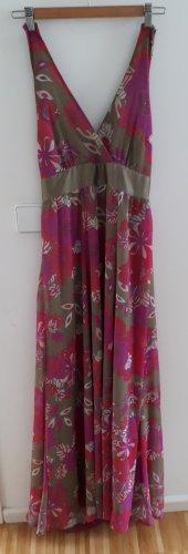 Sommerkleid Maxi Neckholder/Empirekleid Blüten