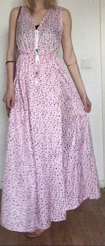 Sommerkleid maxi, rosa/schwarz, Gr. M