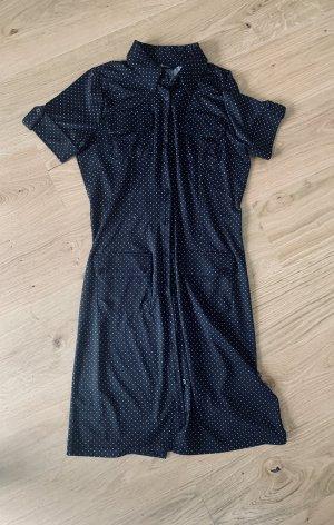 Sommerkleid, Minikleid schwarz mit weißen Polka dots v Christan Gr.36/S