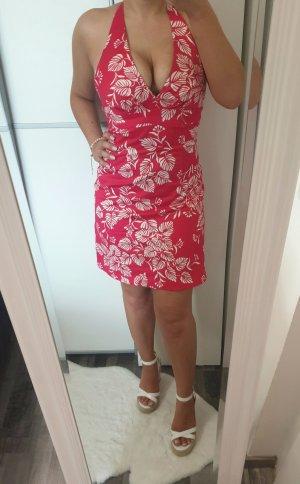 Warehouse Vestido de Verano blanco-rojo ladrillo