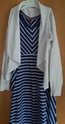 s.Oliver Vestido de tela de sudadera blanco-azul Algodón