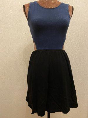 H&M Divided Cut Out Dress black-dark blue