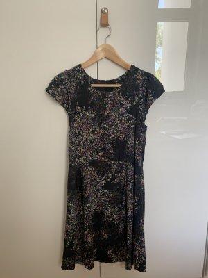 Set Letnia sukienka czarny Wiskoza
