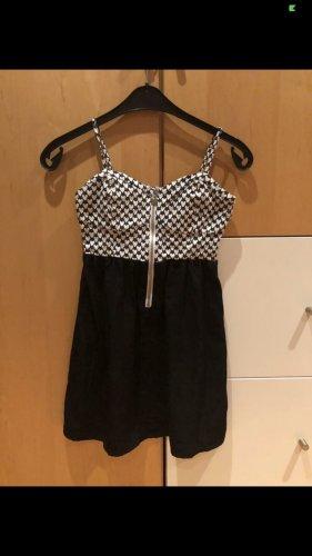 Ann Christine Mini Dress black-white