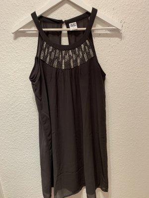 Vero Moda Szyfonowa sukienka szary