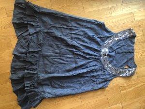 e-vie Collection Abito con paillettes blu acciaio Viscosa