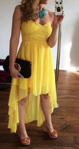 AX Paris Midi-jurk geel