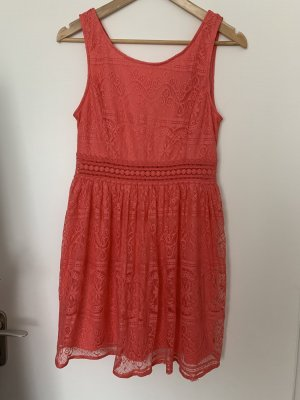 Forever 21 Summer Dress bright red-salmon