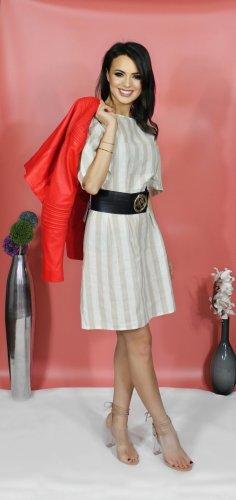 Sommerkleid mit Streifen, Leicht und luftig, Puffärmel. Rinascimento