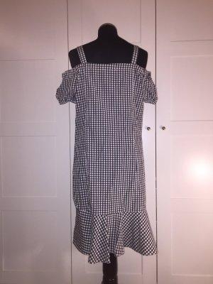s.Oliver Bandeau Dress black-white cotton
