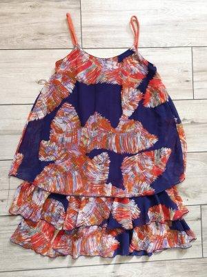 Lavand Robe à volants multicolore polyester