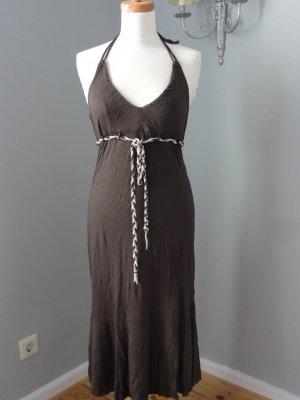 H&M Sukienka z dekoltem typu halter brązowy