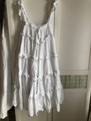 Lost Ink Flounce Dress white cotton
